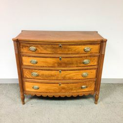Federal Inlaid Mahogany Bow-front Chest of Drawers