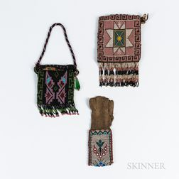 Three Great Lakes Beaded Bags