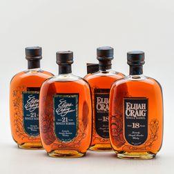 Mixed Elijah Craig, 4 750ml bottles