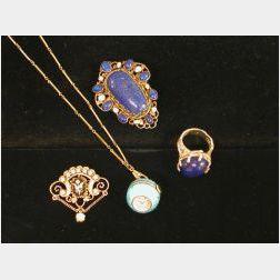 Four Pieces of Jewelry