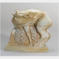 Wedgwood Norman Wilson Glazed Skeaping Model of a Fallow Deer