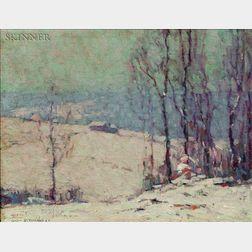 John Fulton Folinsbee (American, 1892-1972)    Winter in the Woods