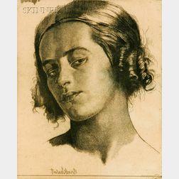 Gerald Leslie Brockhurst (British, 1890-1978)      Lot of Two Portrait Heads:  Nadia