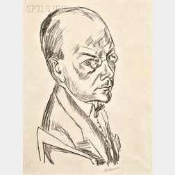 Max Beckmann (German, 1884-1950)      Bildnis Georg Swarzenski