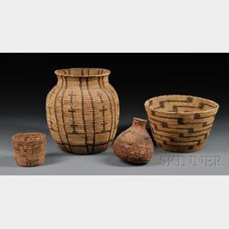 Four Western Baskets