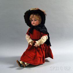 Large Kammer & Reinhardt/Simon & Halbig Bisque Head Girl Doll