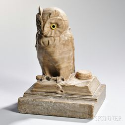 Owl Marble Inkwell