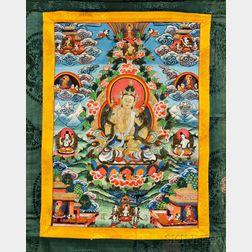 Thangka Depicting Vajrasattva