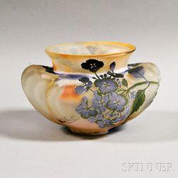 Galle Cameo Glass Hydrangea Vase