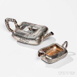 Dominick & Haff Aesthetic Movement Sterling Silver Teapot and Creamer