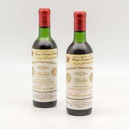 Chateau Cheval Blanc 1966, 2 demi bottles