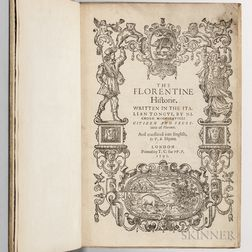 Machiavelli, Niccolo (1469-1527) The Florentine Historie  , First English Edition.