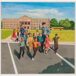 Edward Slattery (American, 1915-1978)      Illustration for a School Safety Poster.