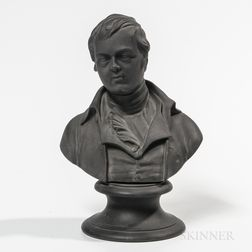 Wedgwood Black Basalt Bust of Burns