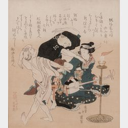 Totoya Hokkei (1780-1850), Woodblock Print