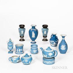 Twelve Pieces of Wedgwood Light Blue Jasperware