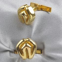 18kt Gold Cuff Links, Zolotas