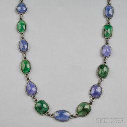Emerald, Tanzanite, and Diamond Longchain