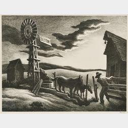Thomas Hart Benton (American, 1889-1975)      Arkansas Evening