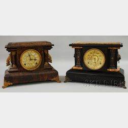 Two Connecticut Mantel Clocks