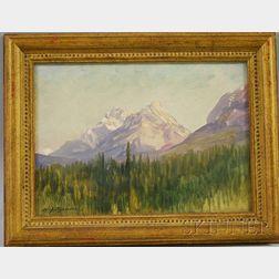 Henry Joseph Breuer (American, 1860-1932)      Sheep Mountains, near Banff