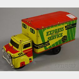 "Wyandotte Pressed Steel ""Express Delivery Service"" Truck Toy"