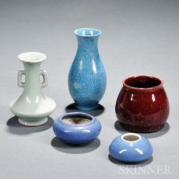 Five Small Ceramic Items