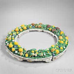 Tin-glazed Della Robbia Wreath Surround