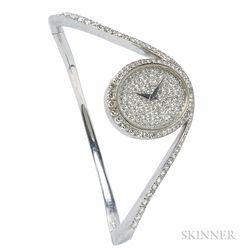 18kt White Gold and Diamond Bracelet Watch, Chopard