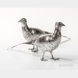 Pair of German .800 Silver Pheasants