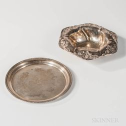 Two Sterling Silver Presentation Items