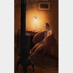 Eli Levin (American, b. 1938)      Seated Nude