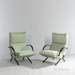Two Osvaldo Borsani for Tecno P40 Lounge Chairs