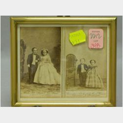 Mr. & Mrs. General Tom Thumb and Commodore Nutt and Miss Minnie Warren Cartes de   Visite
