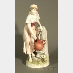 Royal Dux Porcelain Water Bearer
