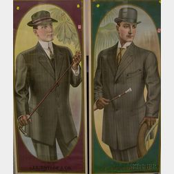 Pair of Framed J.L. Taylor & Co., New York and Chicago Chromolithograph Advertising   Posters