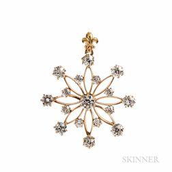 Antique Diamond Pendant/Brooch, J.E. Caldwell