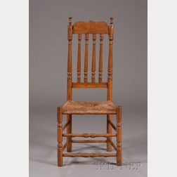 Maple and Ash Bannister Back Side Chair