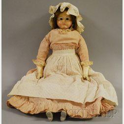 Papier-mâché Shoulder Head Doll