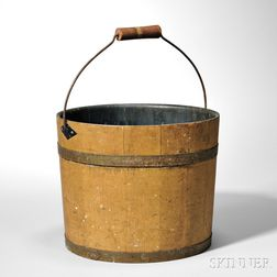 Shaker Ochre/brown-painted Pail
