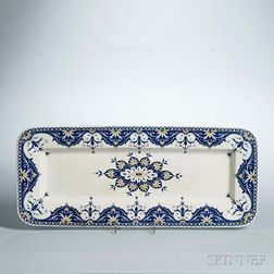 Sarreguemines Rectangular Faience Platter