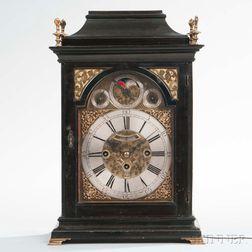 Ebonized Austrian Quarter-striking Bracket Clock