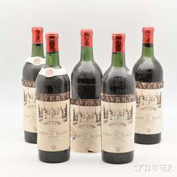 Chateau Cheval Blanc 1953, 5 bottles