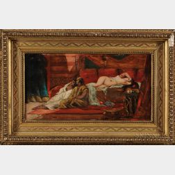 19th Century Continental School   Oil on Board Orientalist Scene