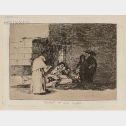 Francisco José de Goya y Lucientes (Spanish, 1746-1828)      Caridad de una Muger