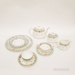 "Minton ""Printemps"" Porcelain Dinner Service for Twelve"