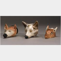 Eight Fox Hunting Related Ceramic Items