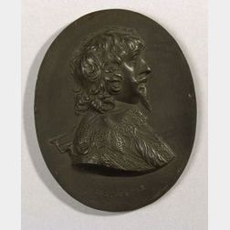 Wedgwood and Bentley Black Basalt Portrait Medallion of Endymion Porter