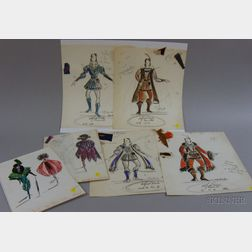 Twenty Unframed Broadway and Other Costume Designs