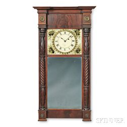 Edmund Currier Looking Glass Wall Clock